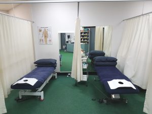 Some of the Physiotherapy beds at Dr7 Physiotherapy, Podiatry, Hydrotherapy and Massage