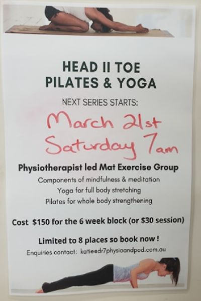 Yoga/Pilates Classes Dr7 Physiotherapy